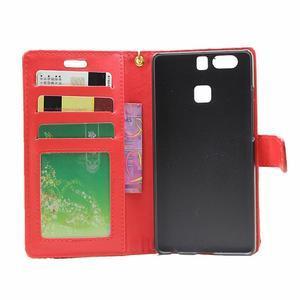 Croco peněženkové pouzdro na Huawei P9 - červené - 4
