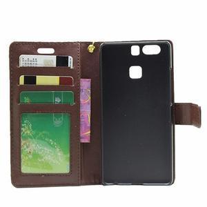 Croco peněženkové pouzdro na Huawei P9 - hnědé - 4