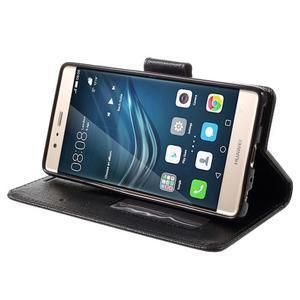 Crossy peněženkové pouzdro na Huawei P9 - černé - 4
