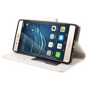 Crossy peněženkové pouzdro na Huawei P9 - bílé - 4