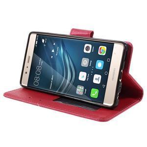 Crossy peněženkové pouzdro na Huawei P9 - červené - 4