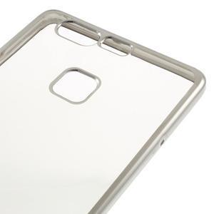 Stylový gelový obal se stříbrným lemem na Huawei P9 - 4