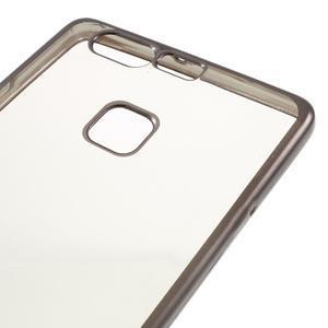 Stylový gelový obal s šedým lemem na Huawei P9 - 4