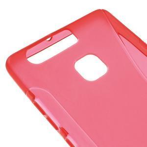 S-line gelový obal na mobil Huawei P9 - červený - 4