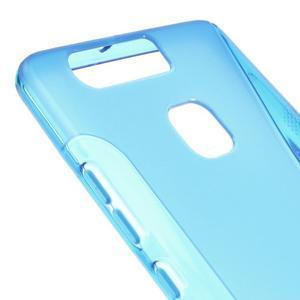 S-line gelový obal na mobil Huawei P9 - modrý - 4