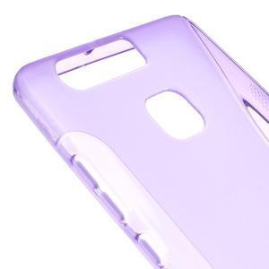S-line gelový obal na mobil Huawei P9 - fialový - 4