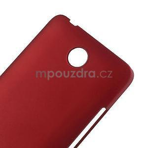 Červený pogumovaný plastový kryt na Huawei Y635 - 4