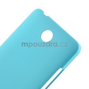 Světle modrý pogumovaný plastový kryt na Huawei Y635 - 4