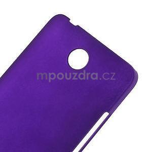 Fialový pogumovaný plastový kryt na Huawei Y635 - 4