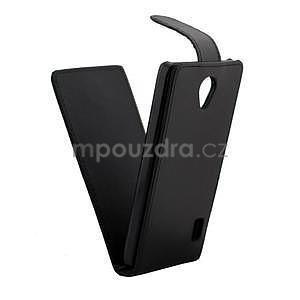 Flipové pouzdro na Huawei Ascend Y635 - černé - 4