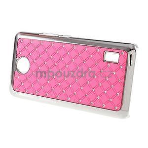 Drahokamový plastový kryt na Huawei Y635 -  růžový - 4