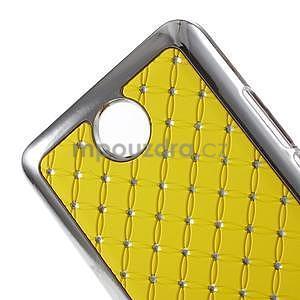 Drahokamový plastový kryt na Huawei Y635 - žlutý - 4
