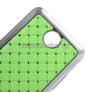 Drahokamový plastový kryt na Huawei Y635 - zelený - 4