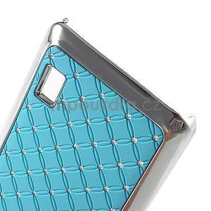 Drahokamový plastový kryt na Huawei Y635 - světle modrý - 4
