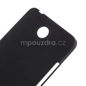 Černý pogumovaný plastový kryt na Huawei Y635 - 4