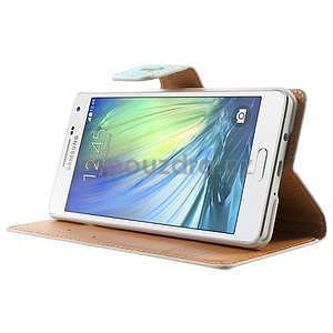 Peněženkové zapínací pouzdro na Samsung Galaxy A5 - kytice - 4