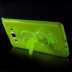 Zelený gelový obal s nastavitelným stojánkem na Samsung Galaxy A5 - 4