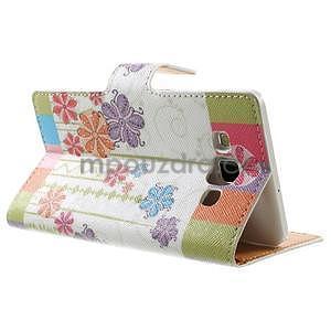 Peněženkové zapínací pouzdro na Samsung Galaxy A5 - barevné květiny - 4