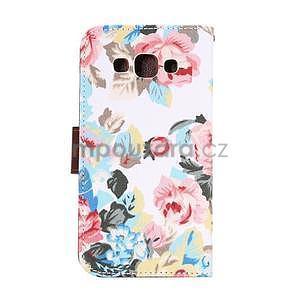 Květinové peněženkové pouzdro na Samsung Galaxy A5 - bílé - 4