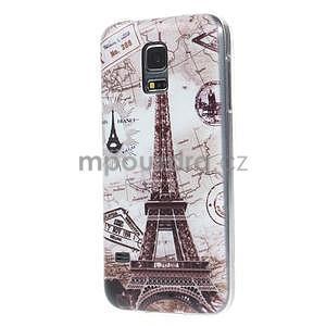 Ultra tenký gelový obal Samsung Galaxy S5 mini - Eiffel - 4