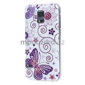 Ultra tenký gelový obal Samsung Galaxy S5 mini - motýlek - 4