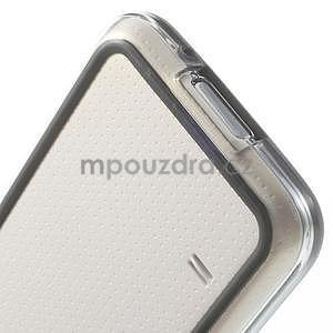 Černý gelový kryt s plastovými lemy na Samsung Galaxy S5 mini - 4