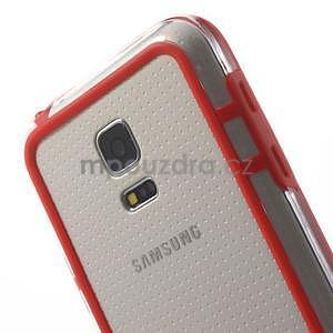 Červený gelový kryt s plastovými lemy na Samsung Galaxy S5 mini - 4