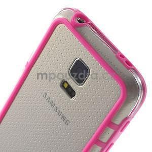 Rose gelový kryt s plastovými lemy na Samsung Galaxy S5 mini - 4