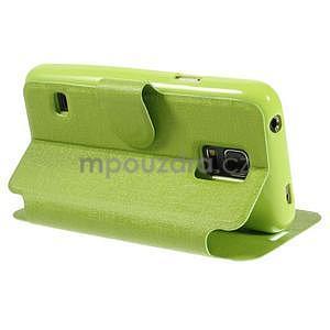 Zelené zapínací pouzdro na Samsung Galaxy S5 mini - 4