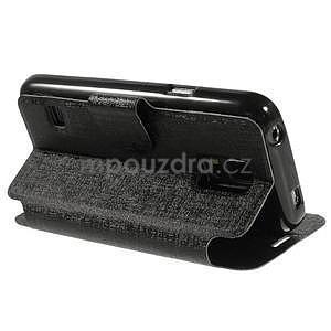 Černé zapínací pouzdro na Samsung Galaxy S5 mini - 4