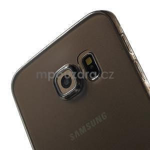 Ultra tenký gelový obal na Samsung Galaxy S6 Edge - šedý - 4