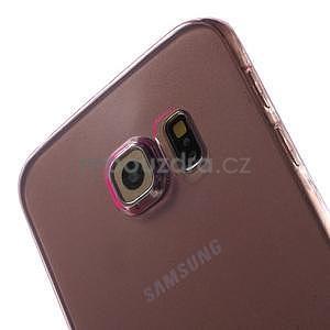 Ultra tenký gelový obal na Samsung Galaxy S6 Edge - rose - 4