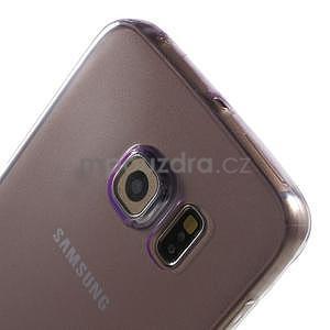 Ultra tenký gelový obal na Samsung Galaxy S6 Edge - fialový - 4