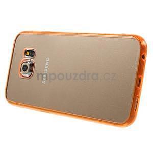 Oranžový hybridní gelový obal na Samsung Galaxy S6 Edge - 4
