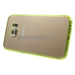 Světle žlutý hybridní gelový obal na Samsung Galaxy S6 Edge - 4