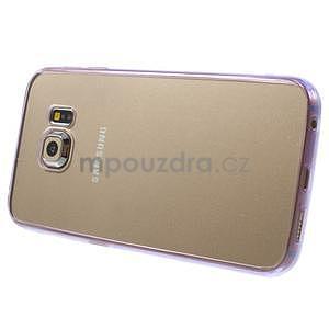Fialový hybridní gelový obal na Samsung Galaxy S6 Edge - 4