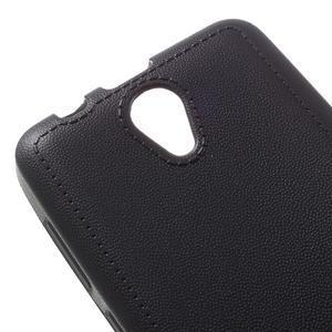 Vroubkovaný gelový obal na mobil Lenovo A319 - černý - 4
