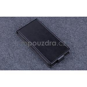 PU kožené flipové pouzdro na Lenovo A536 - černé - 4