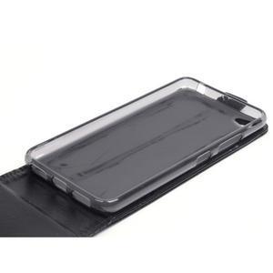 Flipové koženkové pouzdro na Lenovo S60 - černé - 4