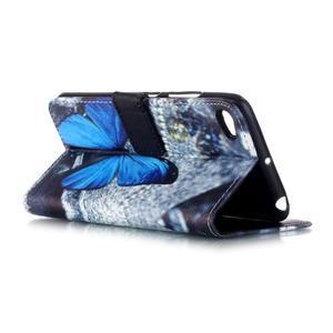 Style peněženkové pouzdro na mobil Lenovo S90 - modrý motýl - 4