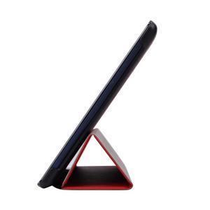 Trifold polohovatelné pouzdro na Lenovo Tab 2 A10-70 - červené - 4