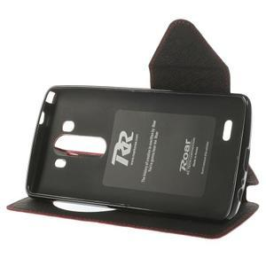 Diary pouzdro s okýnkem na mobil LG G3 - červené - 4