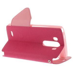 Diary pouzdro s okýnkem na mobil LG G3 - rose - 4
