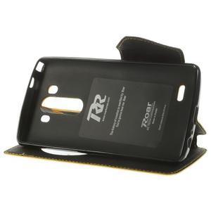 Diary pouzdro s okýnkem na mobil LG G3 - žluté - 4