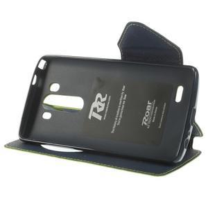Diary pouzdro s okýnkem na mobil LG G3 - zelené - 4