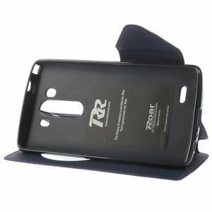 Diary pouzdro s okýnkem na mobil LG G3 - fialové - 4