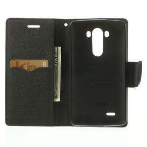 Goos peněženkové pouzdro na LG G3 - černé - 4