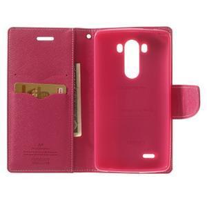 Goos peněženkové pouzdro na LG G3 - růžové - 4