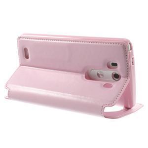 Roar peněženkové pouzdro s okýnkem na LG G3 - růžové - 4