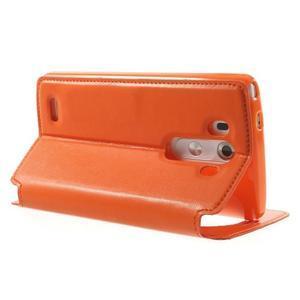 Roar peněženkové pouzdro s okýnkem na LG G3 - oranžové - 4